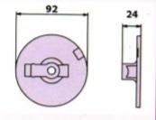 684269 anoda plaska Mercruiser Bravo wymiar - Anody talerz Mercruiser Bravo