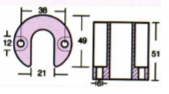 684393A anoda trymu Mercruiser Bravo aluminiowa - Anody trymu