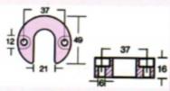 anoda trymu aluminium Mercruiser Alpha wymiary - Anody trymu Mercruiser Alpha